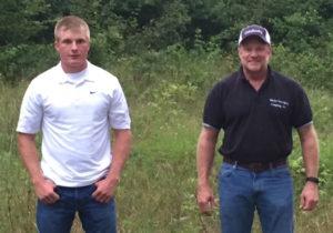 Marty Marler, conservation easement holder with son