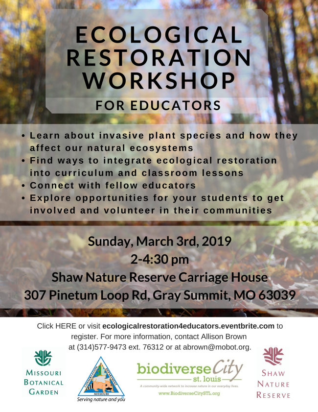 Restoration Workshop for Educators