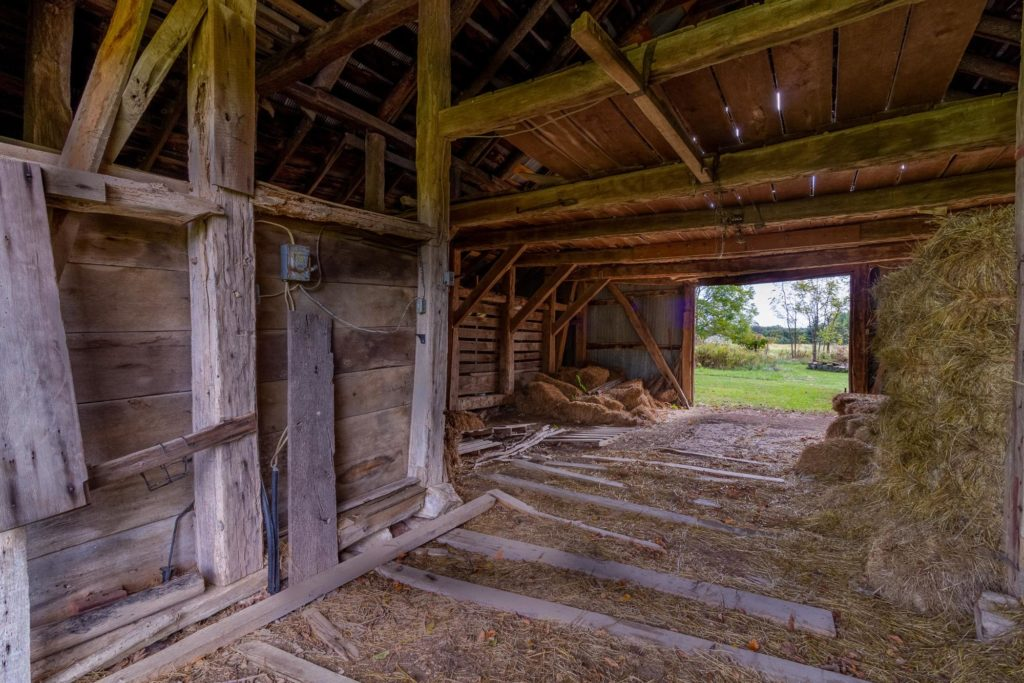 150-year-old barn with no nails