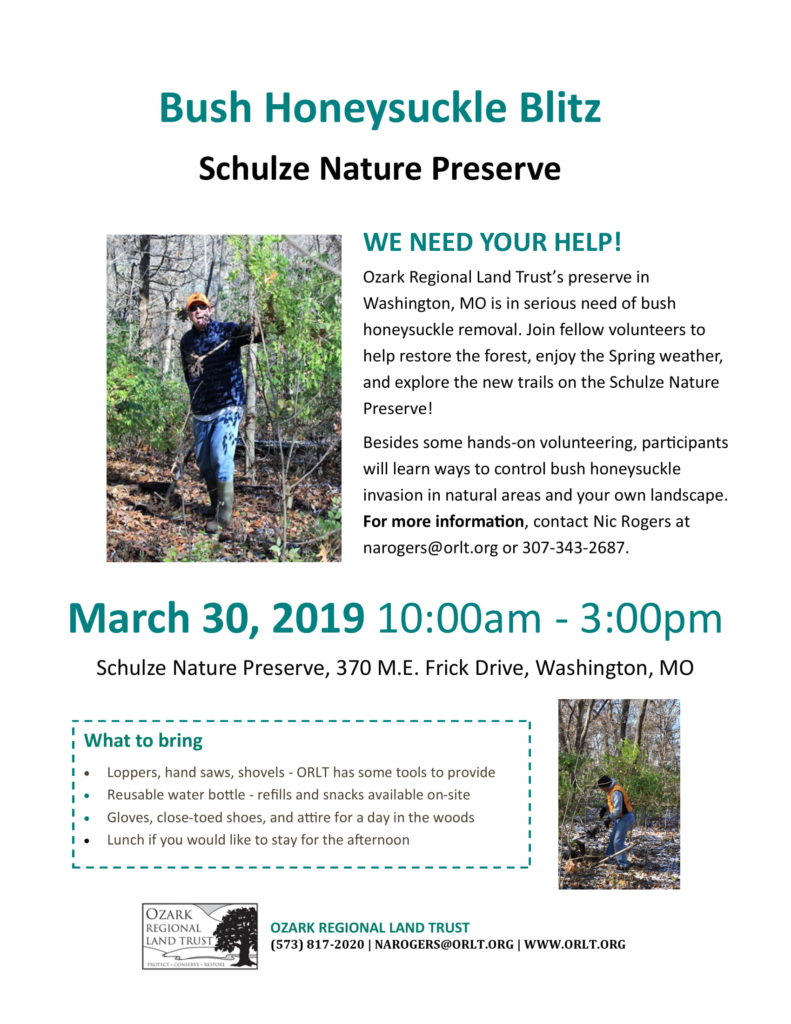 March Nature Workday Flyer
